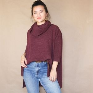 97 anthropologie braeve burgundy cowl neck sweater